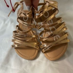 Bebe sandals gold toddler girl size 12